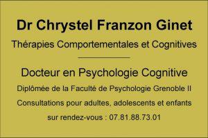 plaque psychothérapie C Franzon Ginet